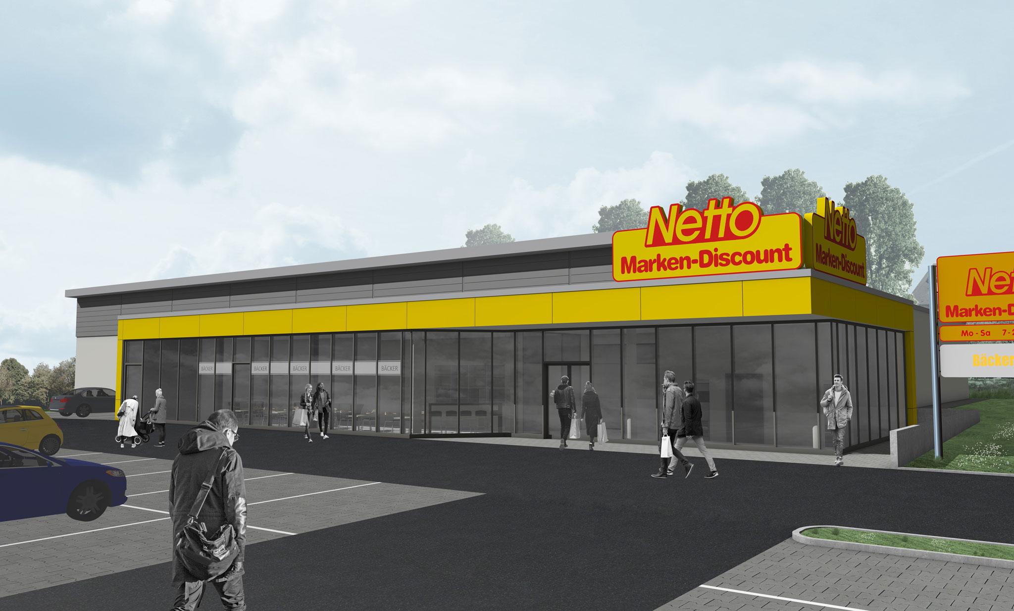 Netto-Markt mit Bäcker und Café Detmolder Straße 2, Schieder-Schwalenberg