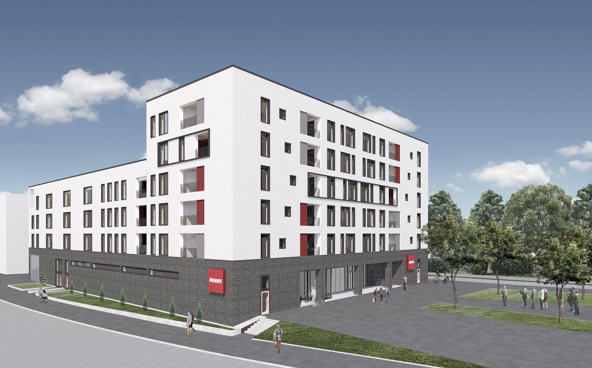 Wohn- und Geschäftshaus mit Tiefgarage Reislinger Straße, Wolfsburg